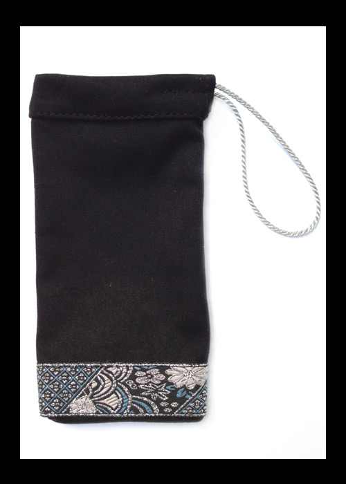 NOMISA microfiber cleaning pouch kristina black phone iPhone 4 iPhone 5